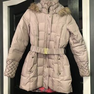 Betsy Johnson Belted Puffer Jacket